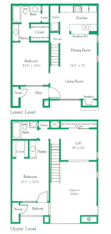 2 bed | 2 bad | 1024 sq ft